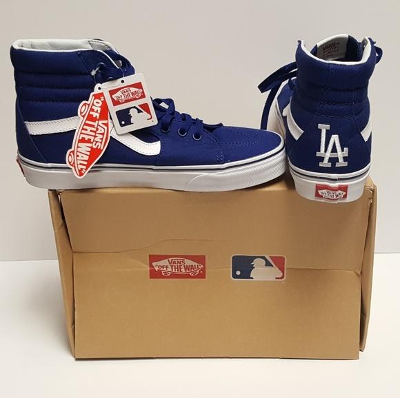 69a68abd4ca Vans x MLB LA Dodgers sk8 Hi Shoes Sneakers Rare. M 5b424837bb761518807b9158